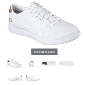 Skechers white tennis shoes  23547 6. K swiss